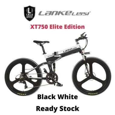 harga Lankeleisi XT750 Elite Version Sepeda Listrik Lipat 48V 10.4AH Black White Blibli.com