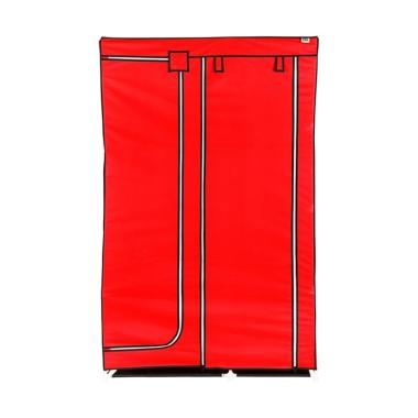 Nine Box DW Lemari Pakaian - Red [2 pintu]