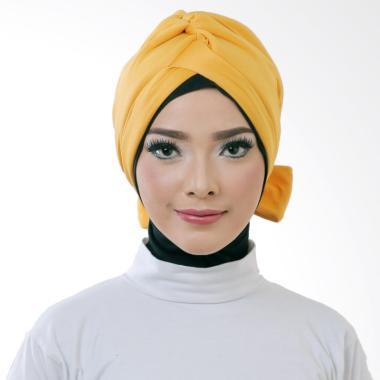 ATTIQAHIJAB Bowtie Turban Instant - Mustard