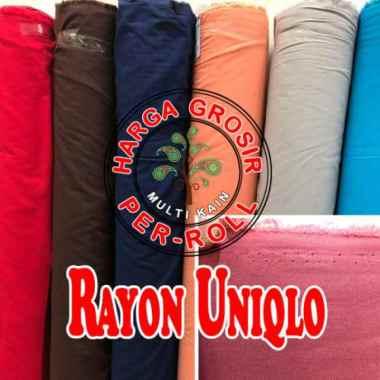 Bahan Kain Rayon Uniqlo Grosir Quality Super 1 Roll 50 Yard Diskon