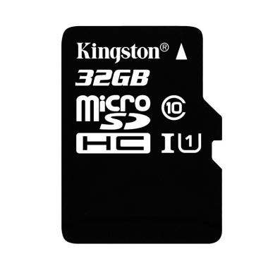 harga Kingston Micro SDHC Class 10 UHS-I SDC10G2/32GBSPFR Memory Card - Hitam [32 GB/ Single Package] Blibli.com