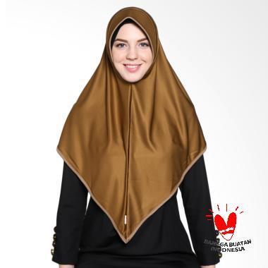 Raniah Hijab Bergo Segitiga Jaksa - Cokelat Susu