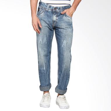 Lois Men Fashion Straight Denim Celana Panjang Pria - Blue CFS 288