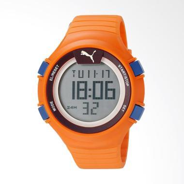 PUMA Stopwatch Tali Rubber Jam Tangan Pria - Orange PU911281002