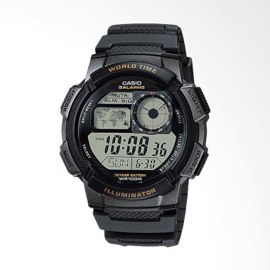 CASIO AE-1000W-1AVDF Black Resin Ba ... - Hitam [10 Year Battery]