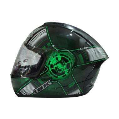 Helm Full Face INK CL-Max #4 Black/Green Fluo