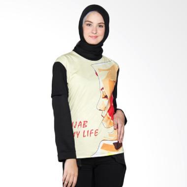 Elveta 4D Hijab Is My Life T-Shirt Wanita