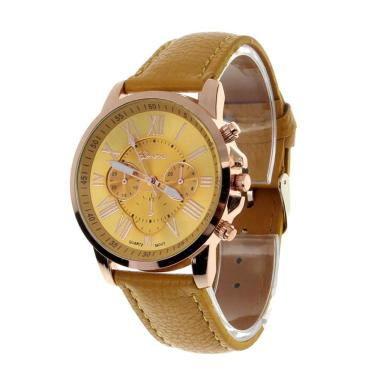 Geneva Fashion Leather Jam Tangan Wanita - Kuning