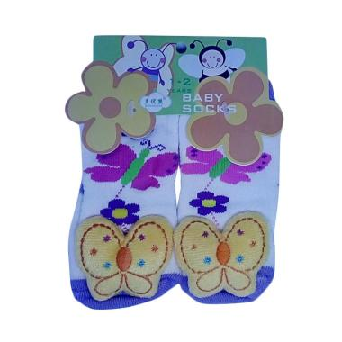 Mom Rattle Yellow Butterfly Kaos Kaki