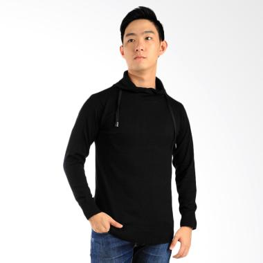 Elfs Shop Sweater Rajut Harajuku - Hitam