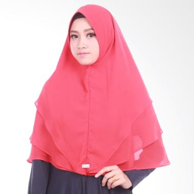Atteena Hijab Khimar Radya Non Pet Jilbab Instant - Light Red