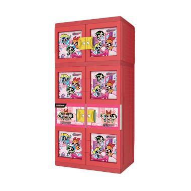 Naiba Powerpuff 1723 R Plastik Lemari Gantung - Merah