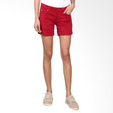 Bronco 6031 Hot Pants Chinos Celana Wanita - Red