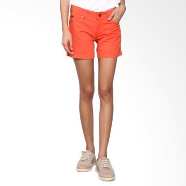Bronco 6032 Hot Pants Chinos Celana Wanita - Orange