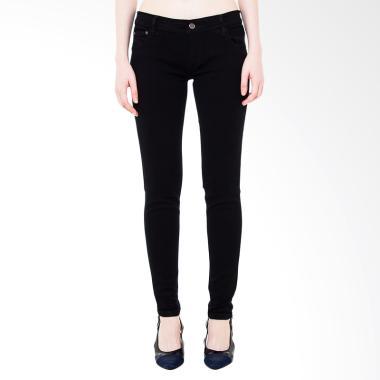 Nuber Dahlia Ladies Mid Jeans Fit Stretch Celana Jeans Wanita - Black