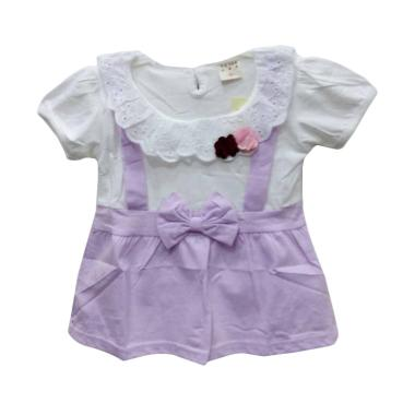 Import Kids 8814 Baju Dress Perempuan - Purple