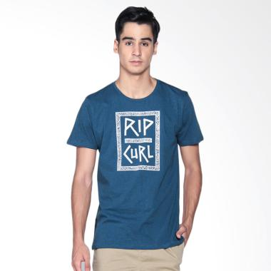 Rip Curl Marcle Native Box Tee Kaos Pria - Blue CTEHU9 4518