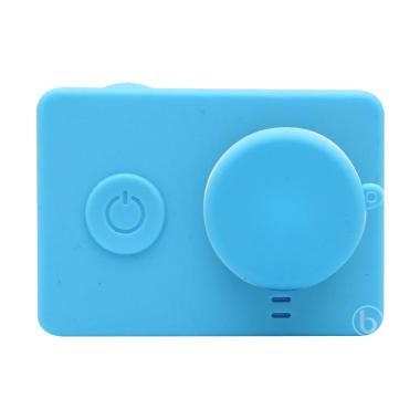 SJHOP Silicone Case and Lens Cap for Xiaomi Yi - Biru