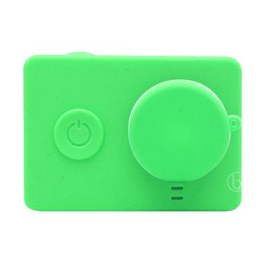 SJHOP Silicone Case and Lens Cap for Xiaomi Yi - Hijau