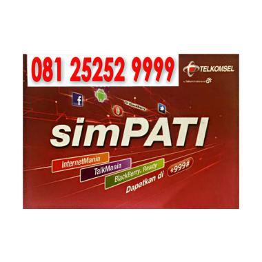 Telkomsel Simpati Nomor Cantik 081 2525 2 9999 Kartu Perdana