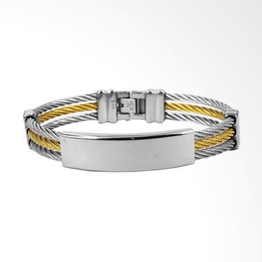 D'Paris SGTKK04400 Rigid Bracelet - Silver Metalic