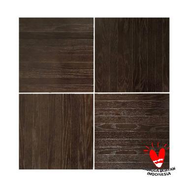 Native Borneo Tile Wood Oak Plywood Karpet Kayu [50 x 50 cm/20 pcs]