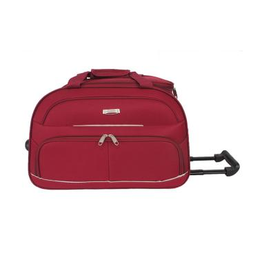 Polo Hunter 593 Duffle Bag with Trolley Tas Travel - Merah [23 Inch]