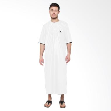 Okechuku Al-Isra Jubah Arabi Pakaian Gamis Pria - Putih
