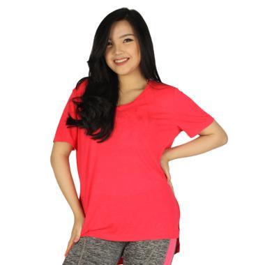 GRAZIEE V-Neck Kaos Olahraga Wanita - Pink Rose MRU0015