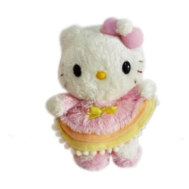 Sanrio Boneka Hello Kitty Original Japan Pink Dress Very Soft