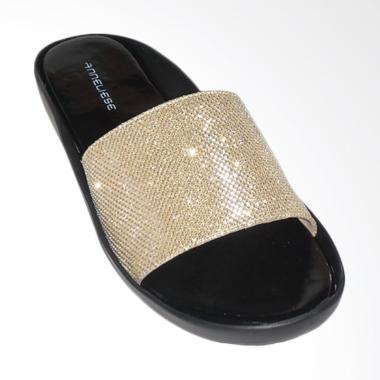 Anneliese Alexa Sandal Flat Wanita - Gold