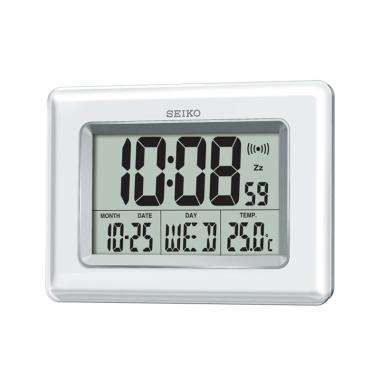 Seiko QHL058W Digital Alarm Clock - White