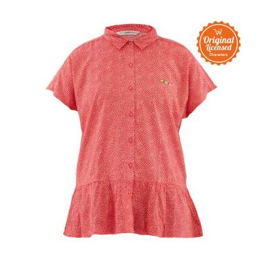 Surfer Girl Verthu Shirt Atasan Anak Perempuan - Red