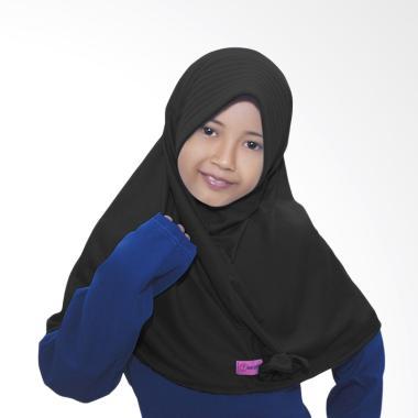 BajuYuli Kerudung Polos Pita Cantik Jilbab Anak - Black