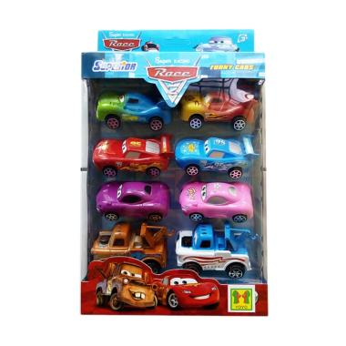 MOMO Super Race Cars Pull Back And Release Mainan Anak [8 pcs]