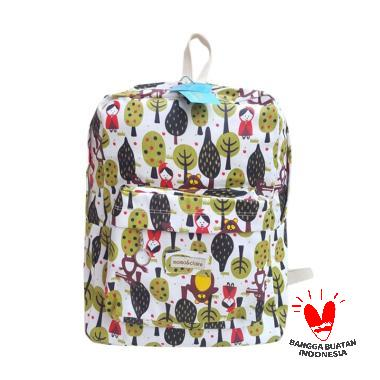 Momoandclaire Backpack Tas Anak - Green Cream