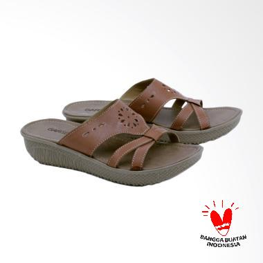 Garsel GRA 8283 Wedges Sandal Wanita - Cokelat