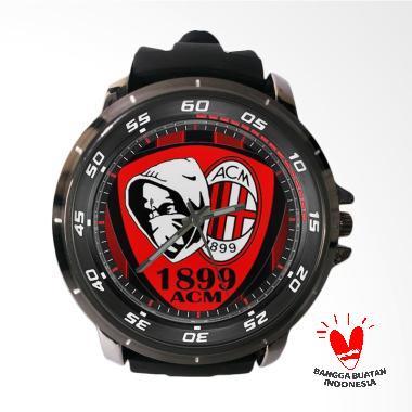 Fika AC Milan Keren Rubber Custom Jam Tangan Pria