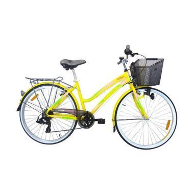 United Pattaya City Bike Sepeda CTB - Yellow [26 Inch]