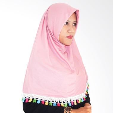 Najwa Hijab Instan Tassel Renda Jilbab Instan - Dusty Pink