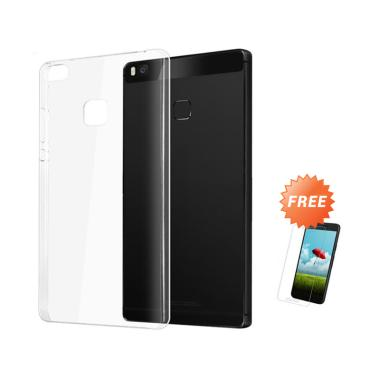 OEM Crystal Hardcase Casing for Huawei P9 Lite 5.2 Inch - Clear + Free Tempered Glass