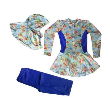 Rainy Collections Bunga Baju Renang ... Biru Dongker [5-11 Tahun]