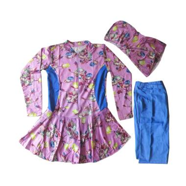Rainy Collections Bunga Baju Renang Anak Muslim - Ungu