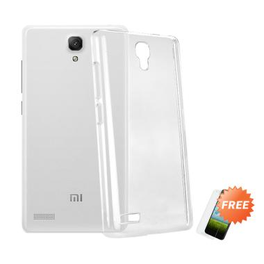 OEM Crystal Hardcase Casing for Xiaomi Redmi Note 1 - Clear + Free Tempered Glass