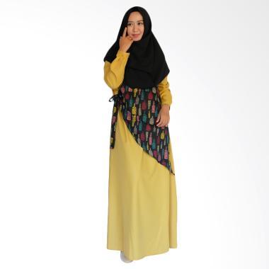 SOFEYA Meira Series Gamis Ibu Menyusui Syar'i - Yellow