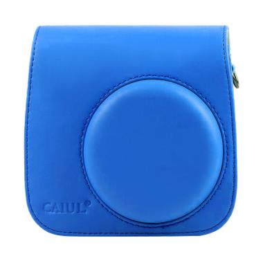 Fujifilm Leather Bag Kamera Instax  ... laroid Case - Cobalt Blue
