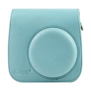 Fujifilm Leather Bag Kamera Instax  ...  Polaroid Case - Ice Blue