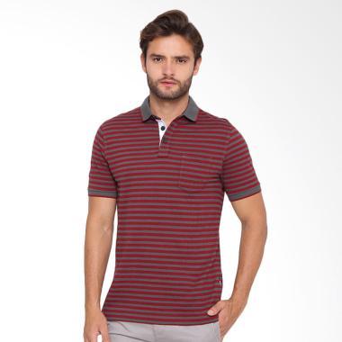 Arnett Komb Salur Polo Shirt Fashion Pria - Red