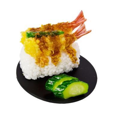 Kadounik Replika Makanan Jepang Tempura Udang Dudukan HP