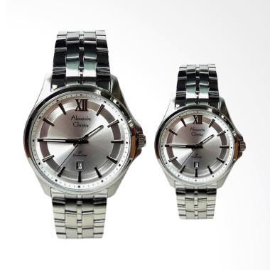 Alexandre Christie Jam Tangan Couple - Silver White [8530]